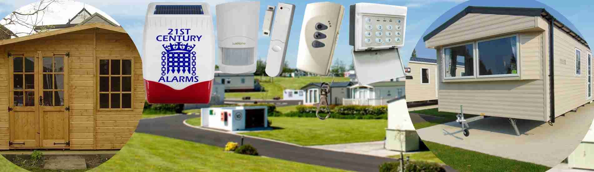 2 X WIRELESS MOTION SENSOR ALARM WITH SECURITY KEYPAD HOME GARAGE SHED CARAVAN